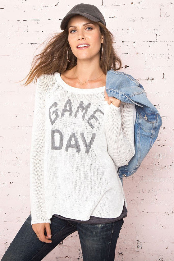 Women's Game Day Crewneck Cotton Sweater | Wooden Ships Knits