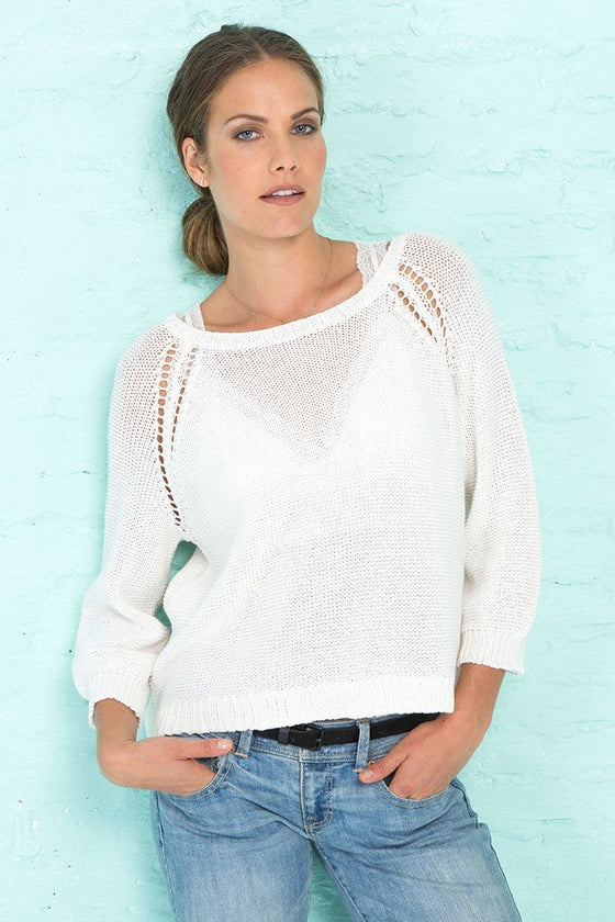 MARIEL 3/4 SLEEVE COTTON - Wooden Ships