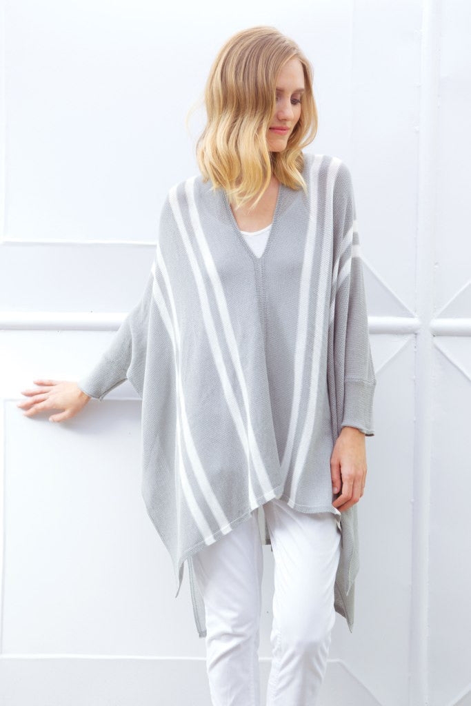 ANITA PONCHO COTTON MERCER