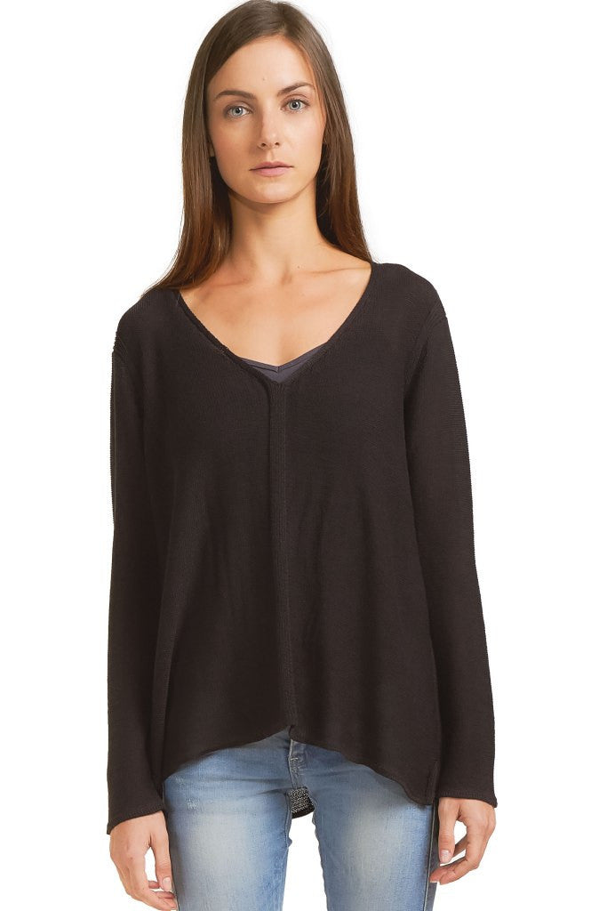 ALESSANDRA V - NECK COTTON MERCER