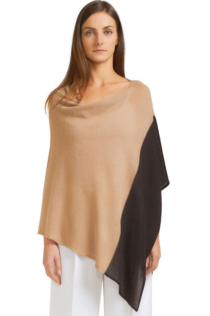 COLORBLOCK PONCHO COTTON MERCER