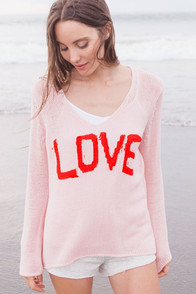 LOVE V - NECK COTTON - Wooden Ships