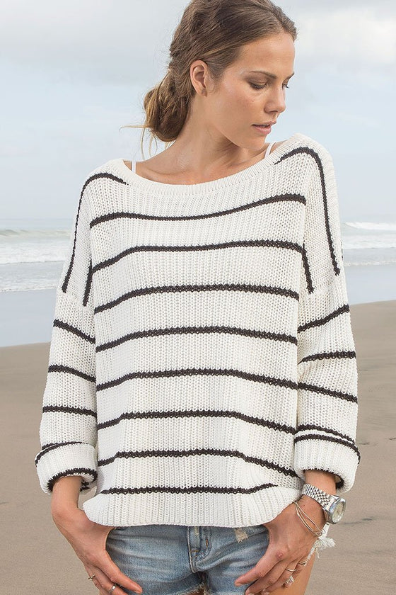 Women's Branson Crew Cotton Sweater | Wooden Ships Knits