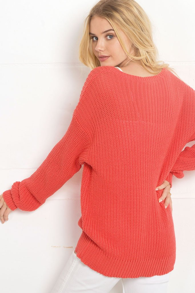 Women's Cafe Rib Crewneck Cotton Sweater | Wooden Ships Knits