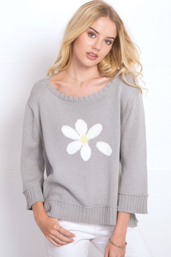 Women's Daisy Top Cotton Sweater | Wooden Ships Knits
