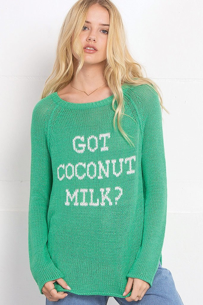 Women's Got Coconut Milk? Cotton Sweater | Wooden Ships Knits