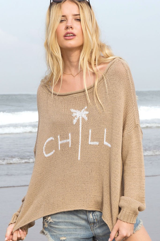 Women's Chill Crewneck Cotton Sweater | Wooden Ships Knits