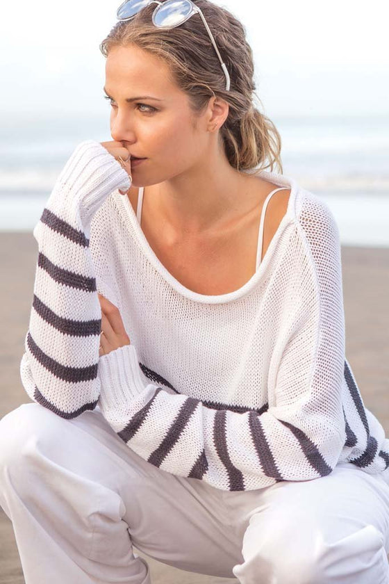 Women's Dockside Crewneck Cotton Sweater's | Wooden Ships Knits