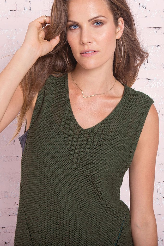Women's Kahlo Tank Cotton Mercer Sweater's | Wooden Ships Knits