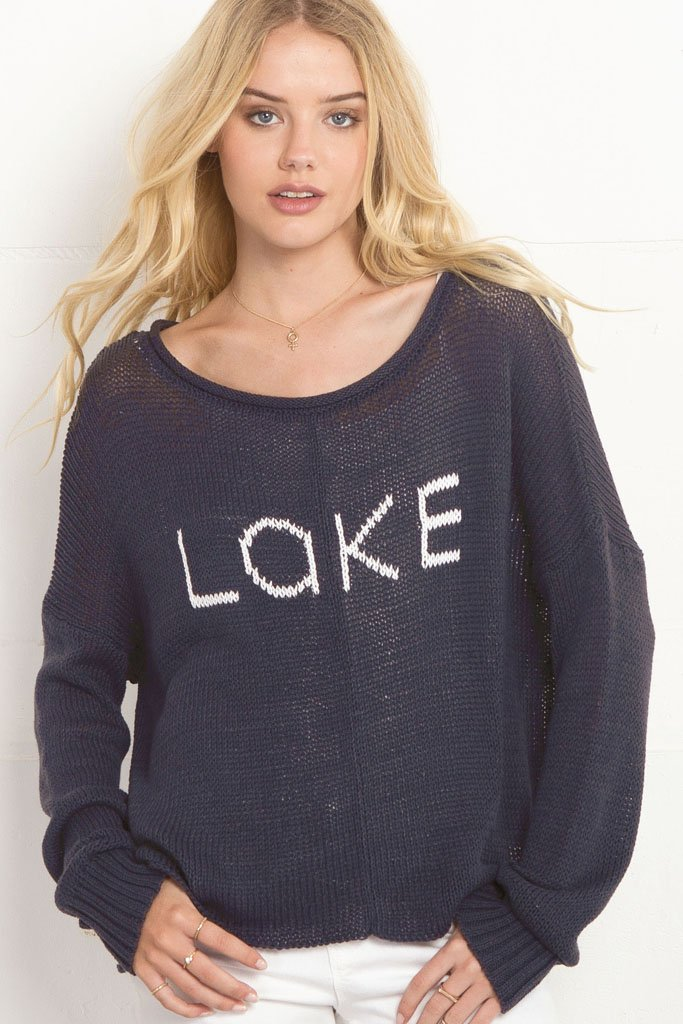 Women's Lake Crewneck Cotton Sweater | Wooden Ships Knits