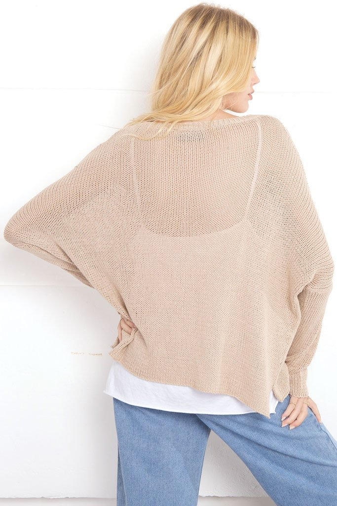 Women's Sun-day Crewneck Cotton Sweater | Wooden Ships Knits