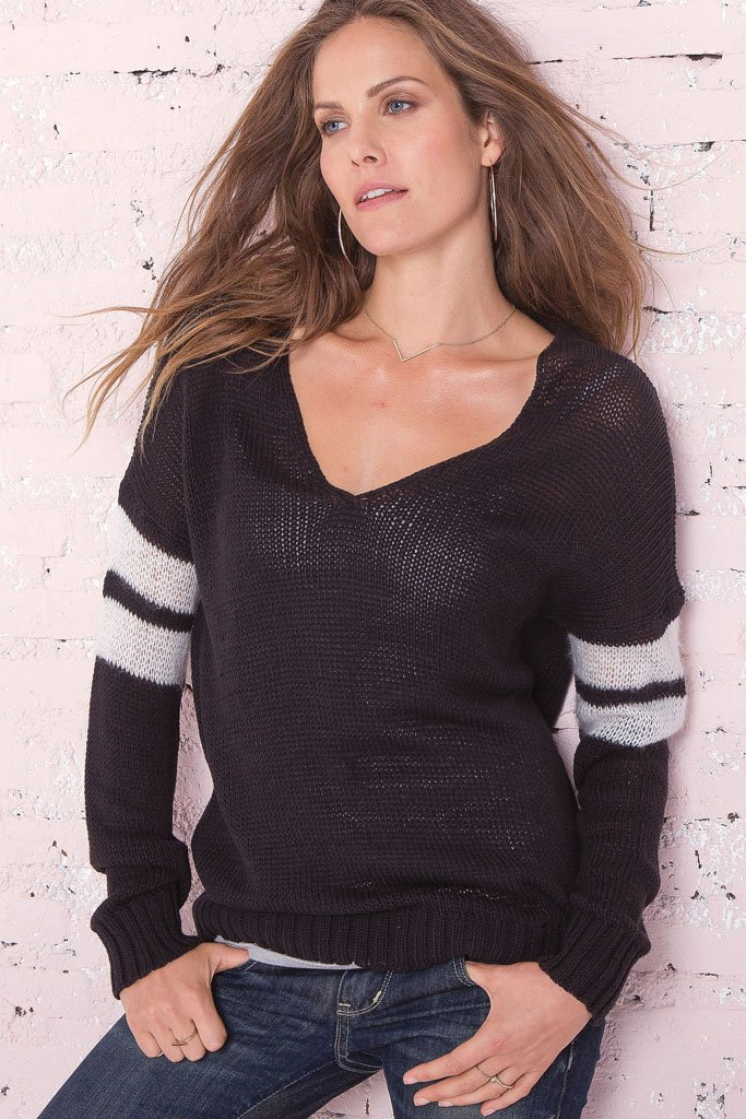 Women's Taylor Cotton Football Sweater | Wooden Ships Knits