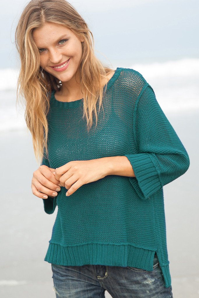 Women's Easy Peasy 3/4 Crew Sweater's | Wooden Ships Knits