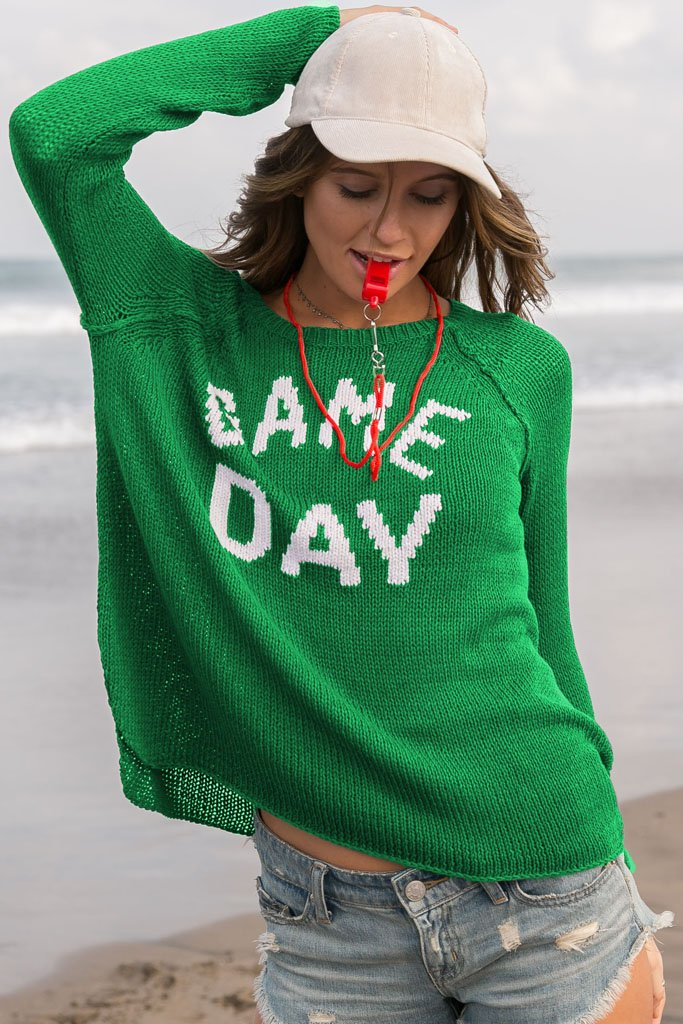Women's Game Day Raglan Cotton Sweater | Wooden Ships Knits