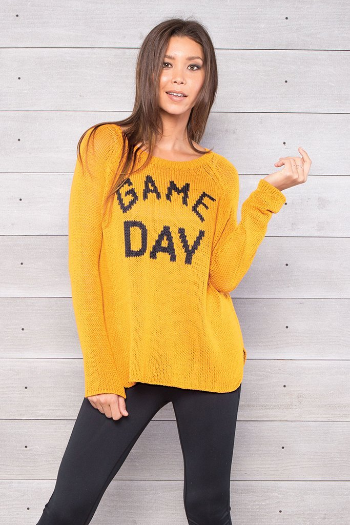Women's Game Day Crewneck Lightweight Sweater | Wooden Ships Knits