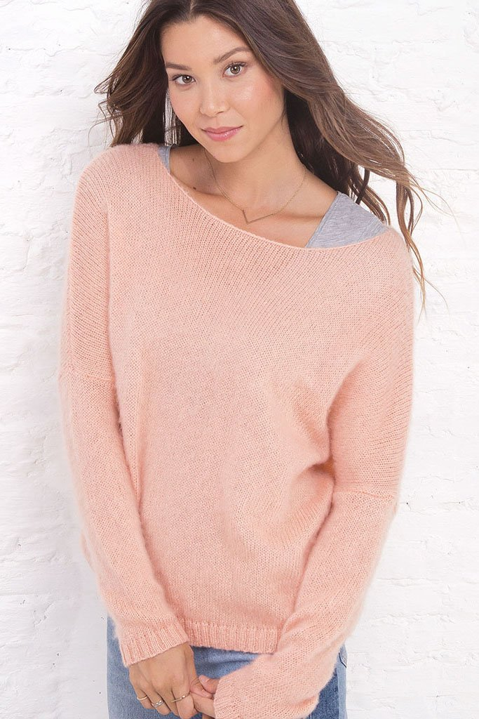 Women's Brushed Crewneck Pullover Sweater | Wooden Ships Knits
