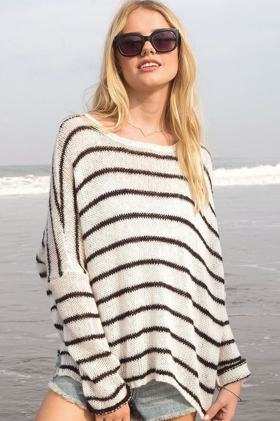Women's Dock Striped Crewneck Sweater | Wooden Ships Knits