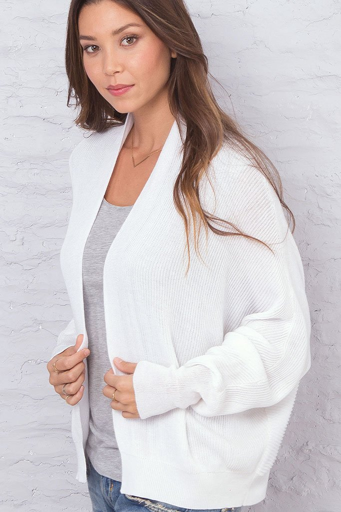 Women's _Arden Cardigan Cotton Mercer Sweater | Wooden Ships Knits