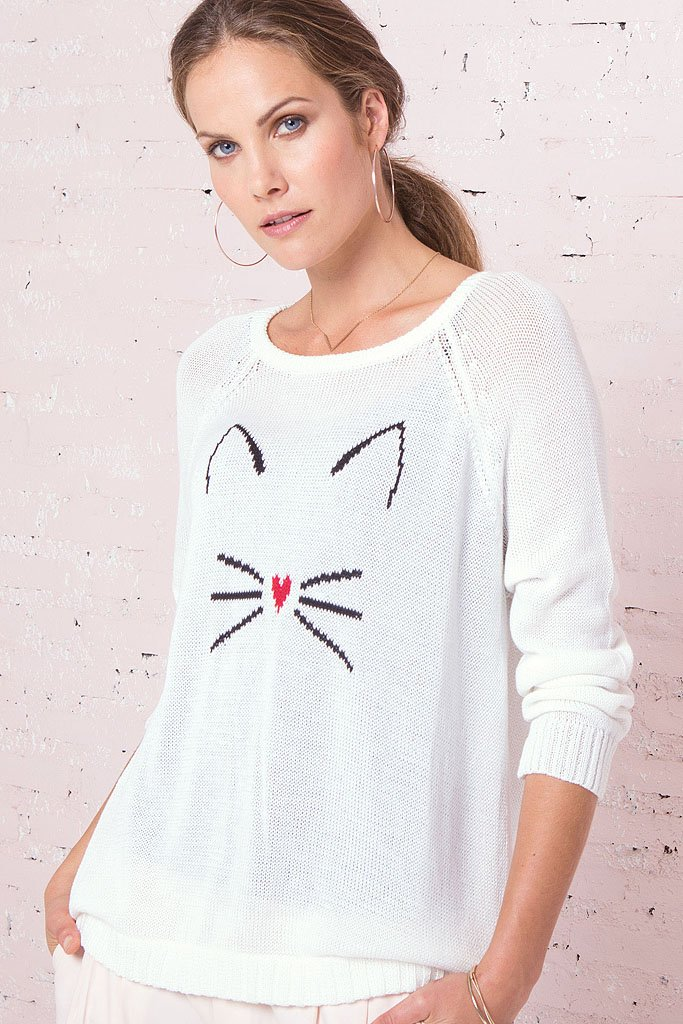 Women's Kitten Top Cotton Mercer Sweater | Wooden Ships Knits