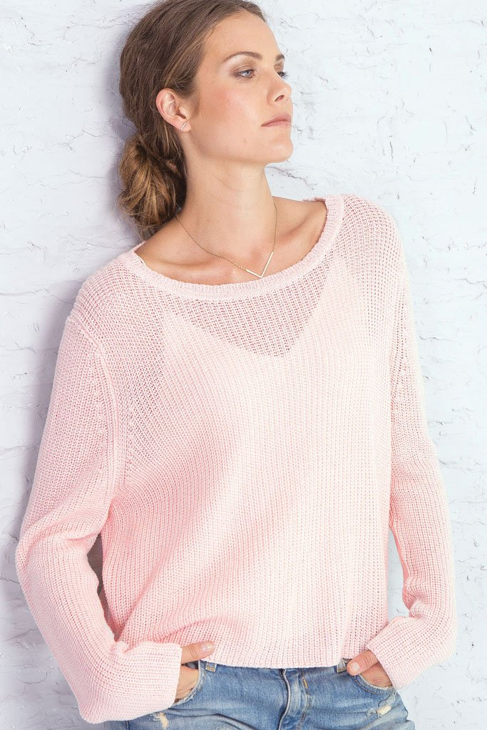 Women's Marina Crewneck Cotton Mercer Sweater | Wooden Ships Knits
