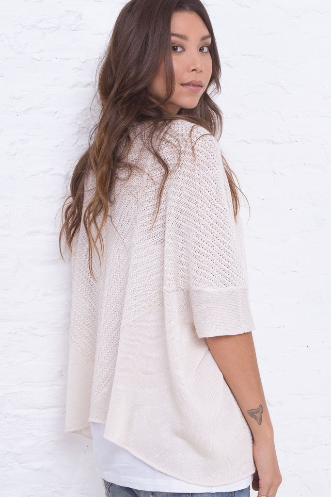 Women's Miko Cardigan Cotton Mercer Sweater | Wooden Ships Knits