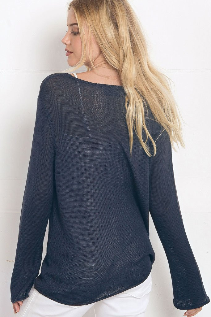 Women's Sail Away Crewneck Cotton Mercer  Sweater | Wooden Ships Knits