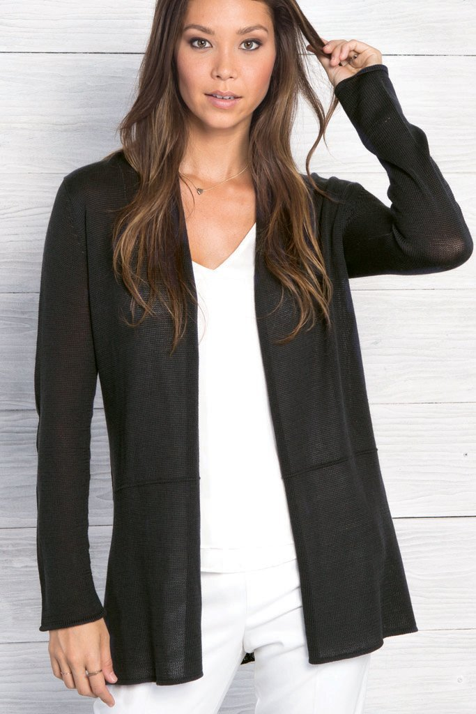 Women's Seamed Cardigan Mercer Sweater's | Wooden Ships Knits