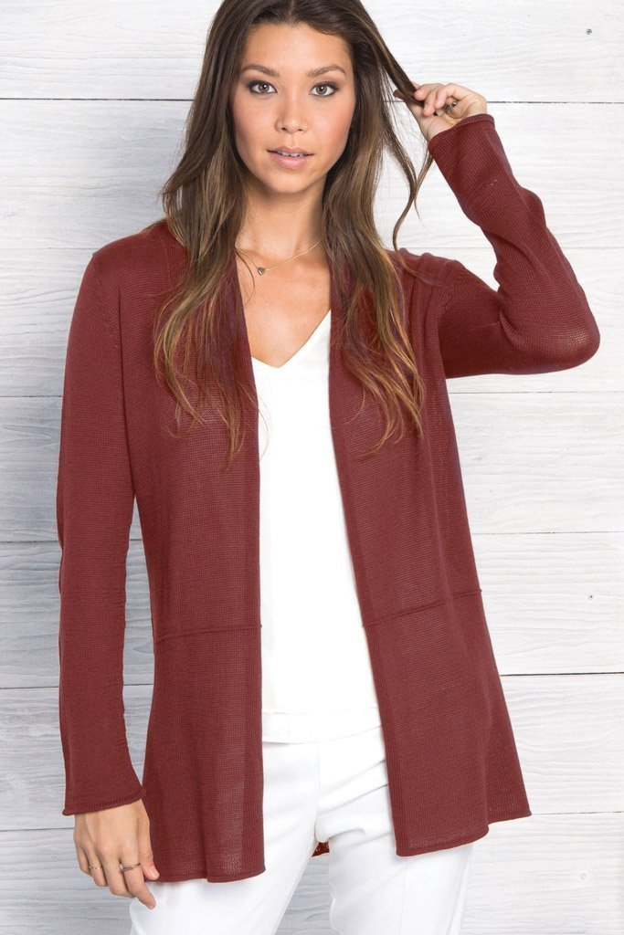 Women's Seamed Cardigan Cotton Sweater's | Wooden Ships Knits