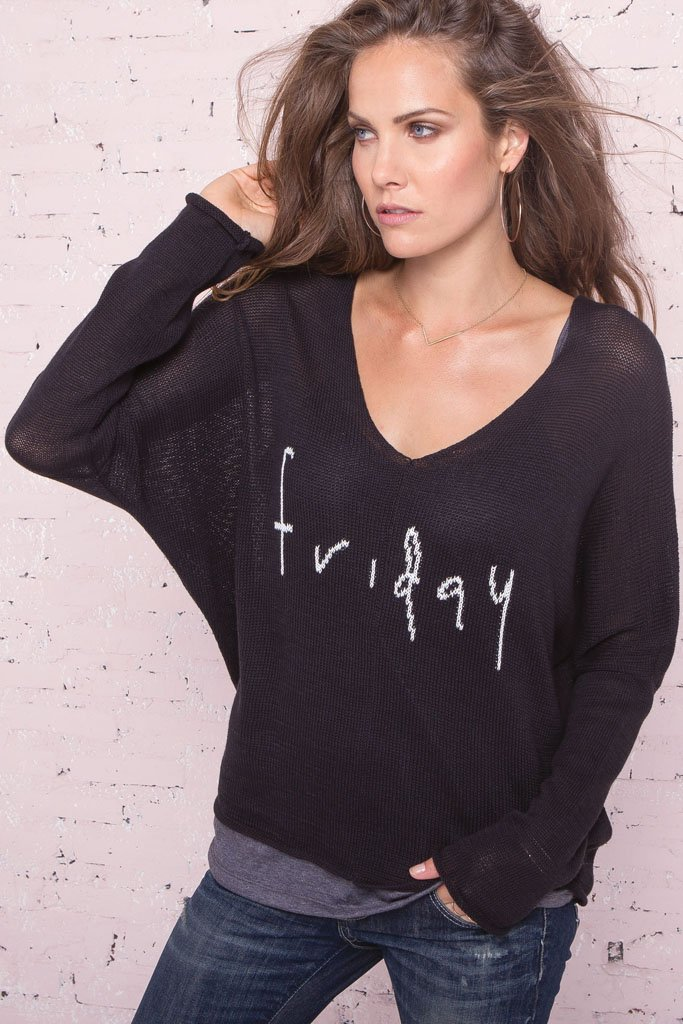 Women's Wknd - Friday Cotton Mercer Sweater | Wooden Ships Knits