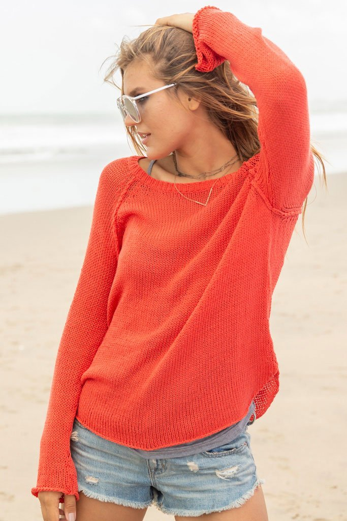 Women's Boyfriend Raglan Cotton Sweater's | Wooden Ships Knits