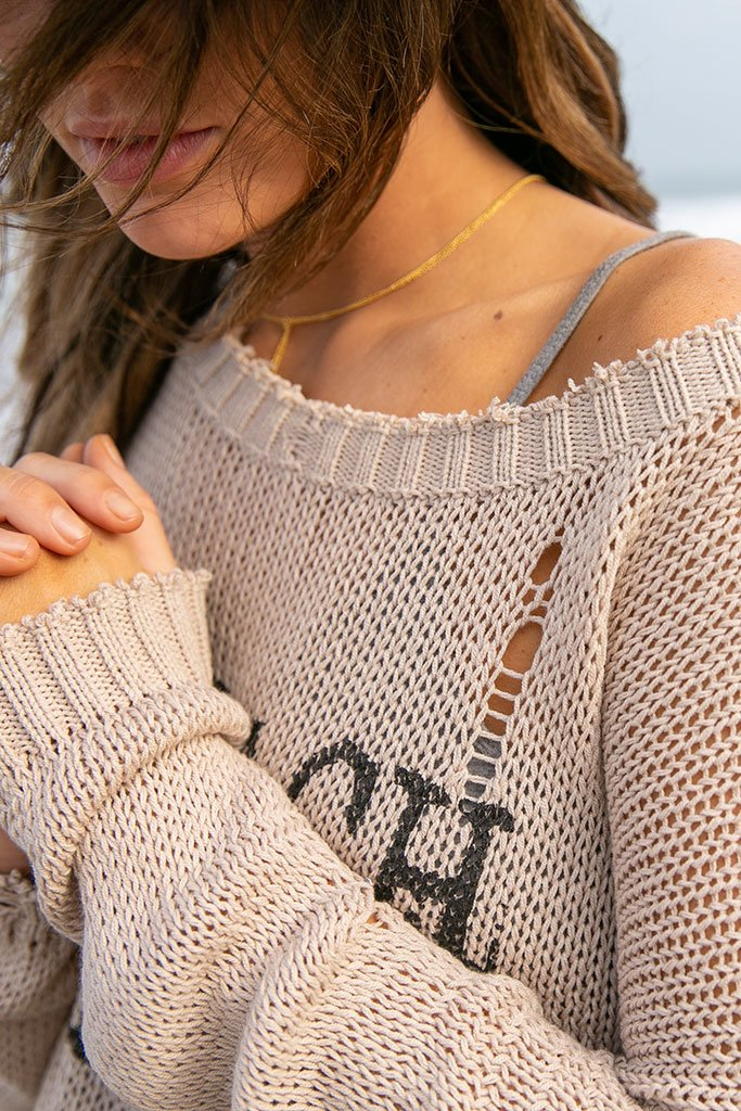 ffc26159aed3 Wooden Ships by Paola Buendia | Women's Beach Bum Crewneck Cotton ...