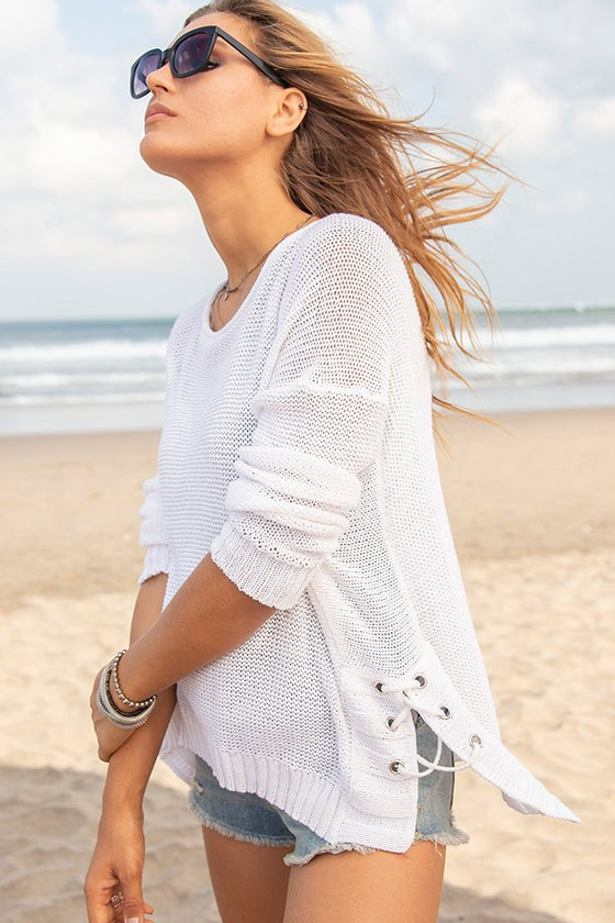 Women's Harbour Top Cotton Sweater's | Wooden Ships Knits
