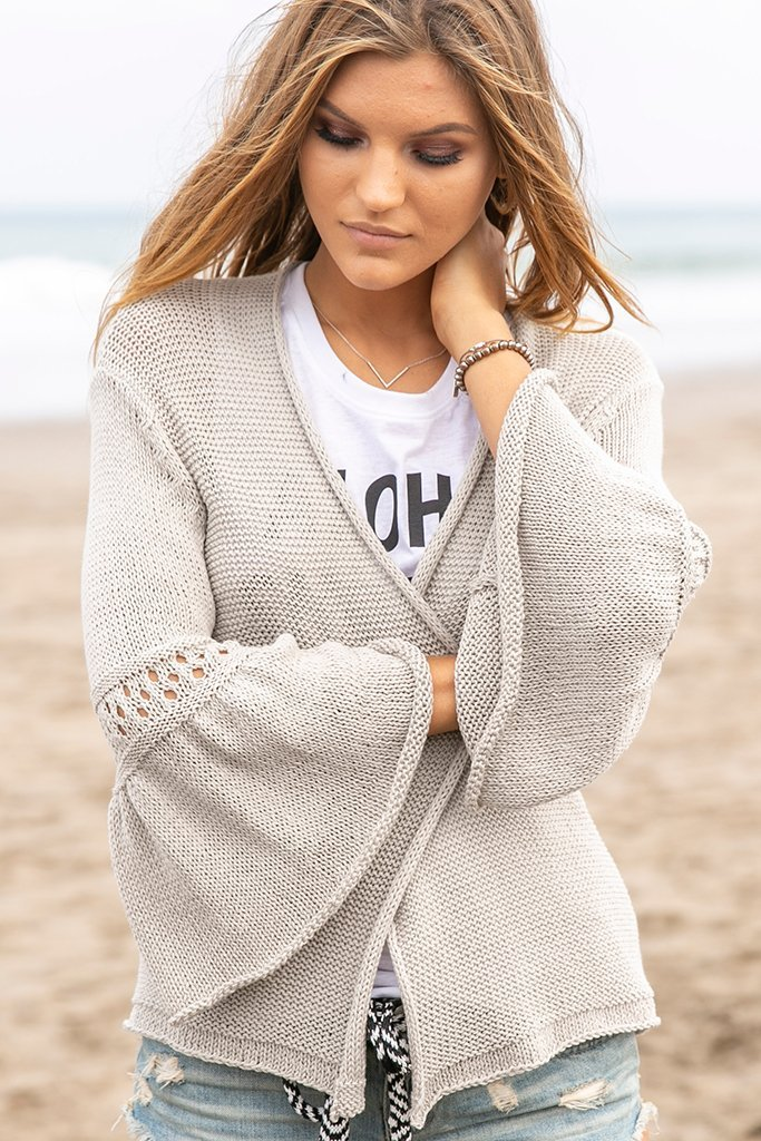Women's Kelsey Cardigan Cotton Sweater's | Wooden Ships Knits