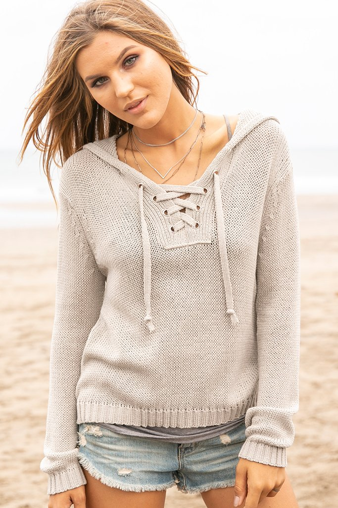 Women's Newport Solid Hoodie Sweater's | Wooden Ships Knits