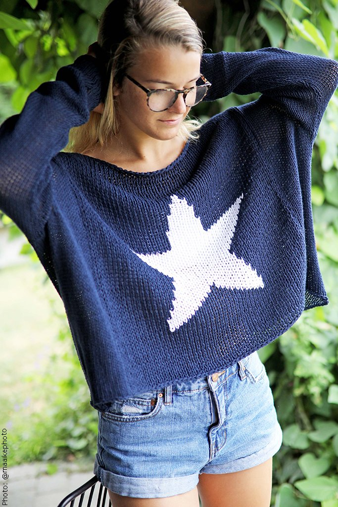 Women's Big Star Crewneck Cotton Sweater's | Wooden Ships Knits