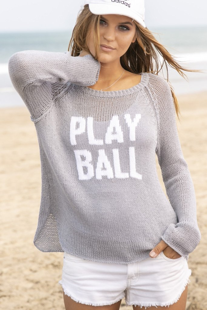 Women's Play Ball Raglan Cotton Sweater's | Wooden Ships Knits
