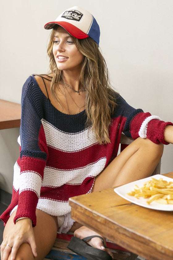 Women's Riley Top Cotton  Sweater's | Wooden Ships Knits