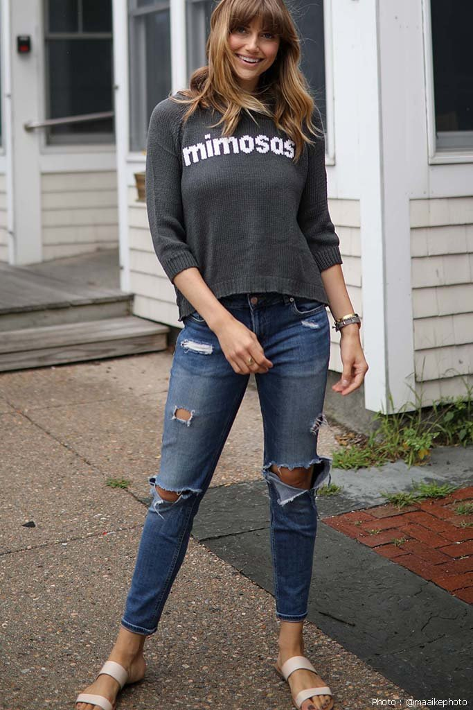 Women's Mimosas Top Cotton Sweater's | Wooden Ships Knits