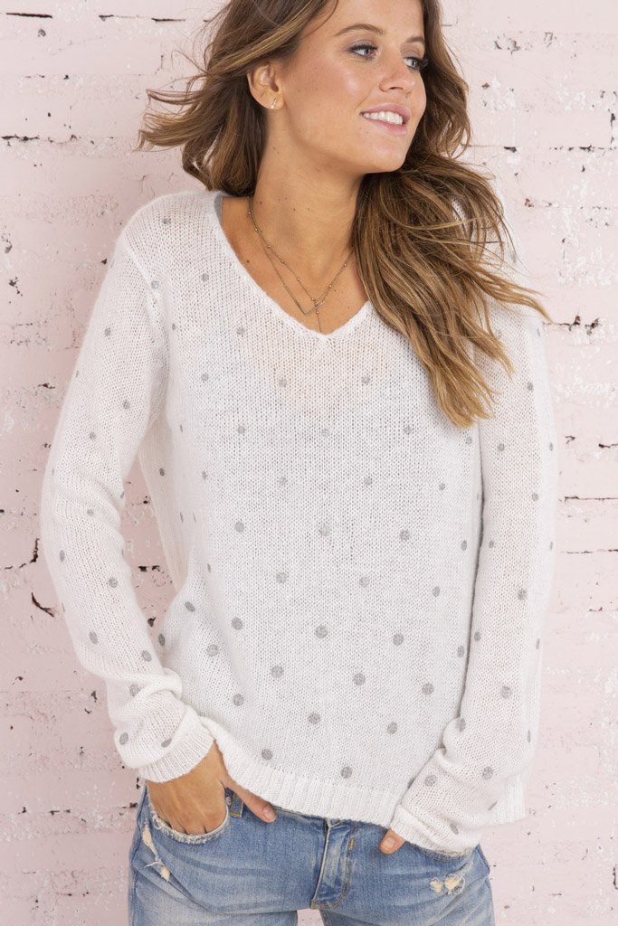 Women's Bubbles V-Neck Sweater's | Wooden Ships Knits