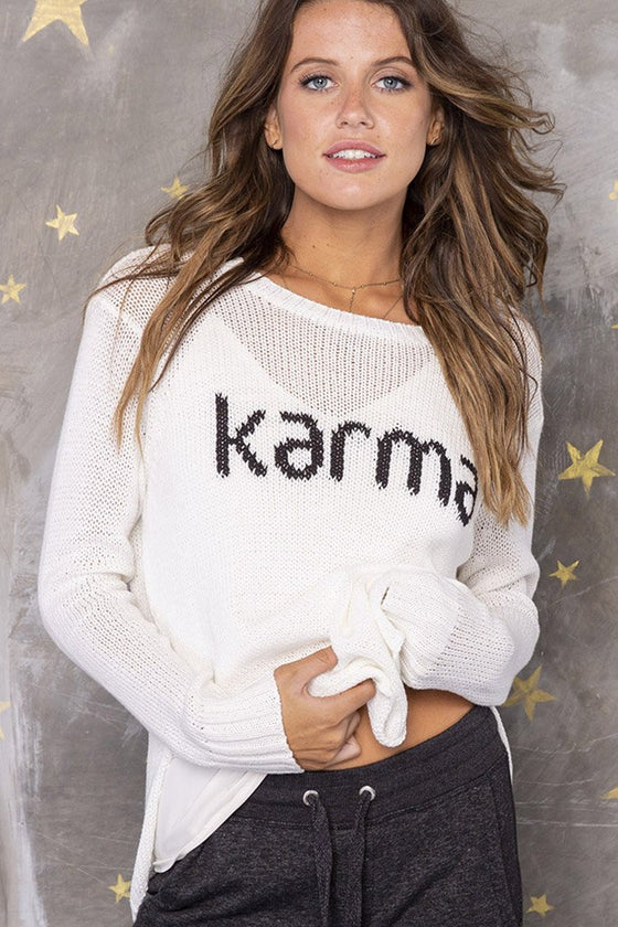 Women's Karma Crewneck Cotton Sweater's | Wooden Ships Knits