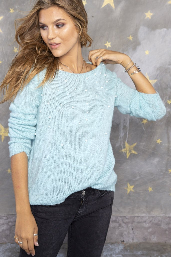 Women's Pearls Top Sweater's | Wooden Ships Knits