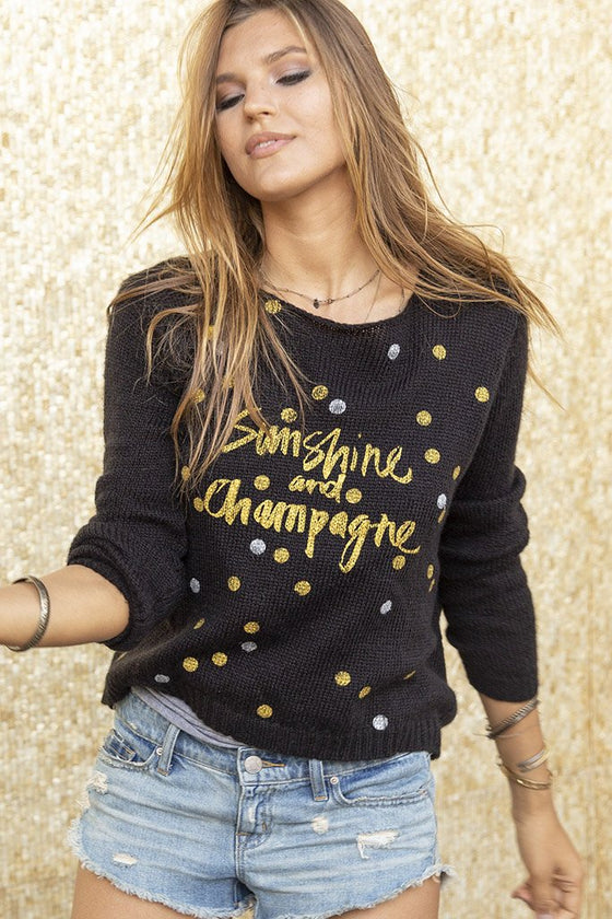 Women's Sunshine and Champagne Crewneck Lightweight Sweater's | Wooden Ships Knits