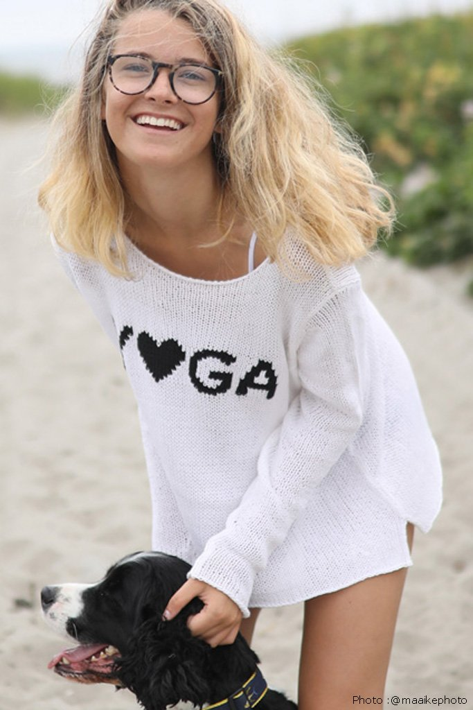 Women's Yoga Crewneck Cotton Sweater's | Wooden Ships Knits