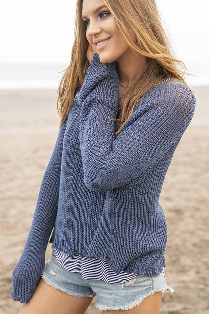 Women's Allie Crop Top Cotton Sweater's | Wooden Ships Knits