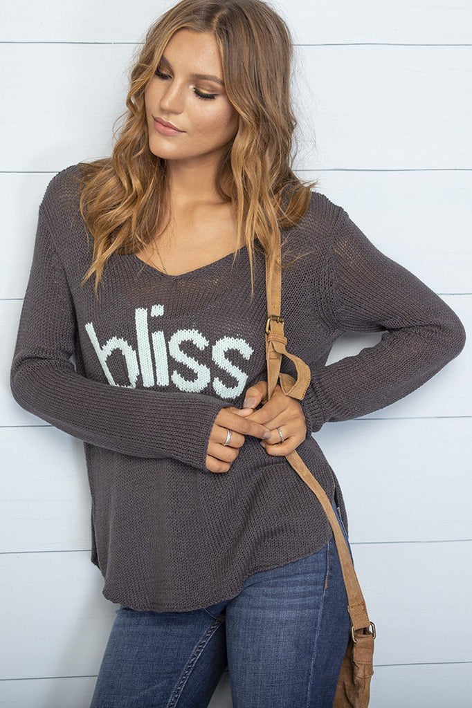 Women's Bliss V-Neck Cotton Sweater's | Wooden Ships Knits