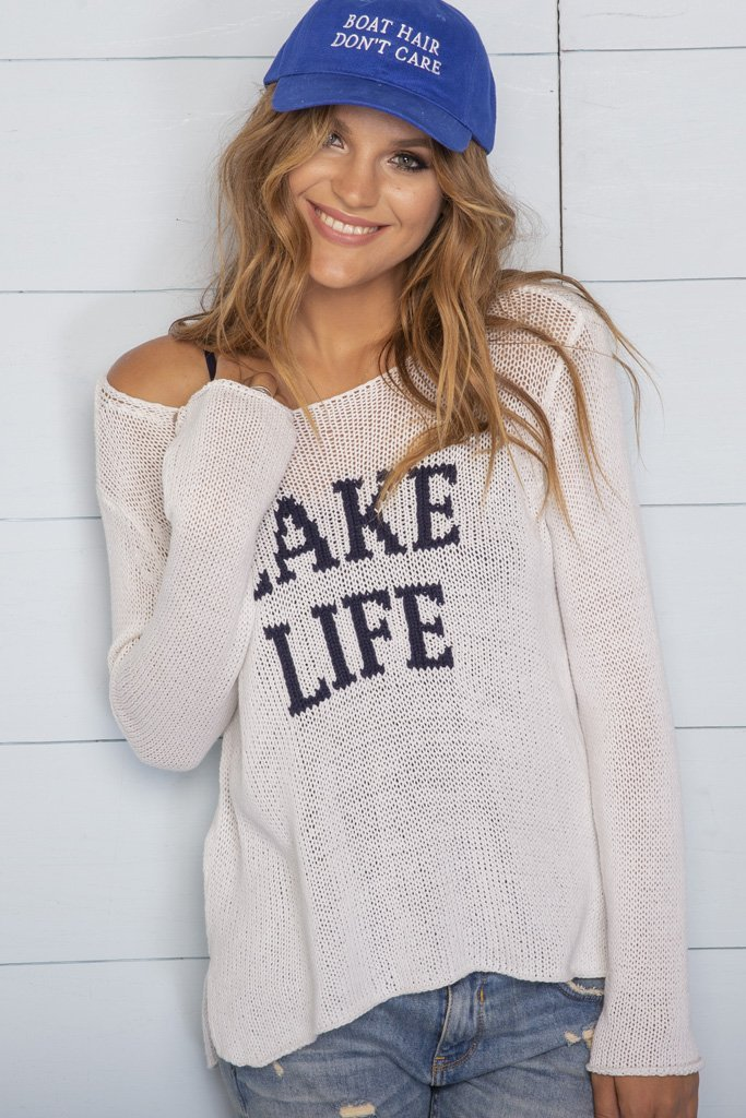 Women's Lake Life Crewneck Cotton Sweater's | Wooden Ships Knits
