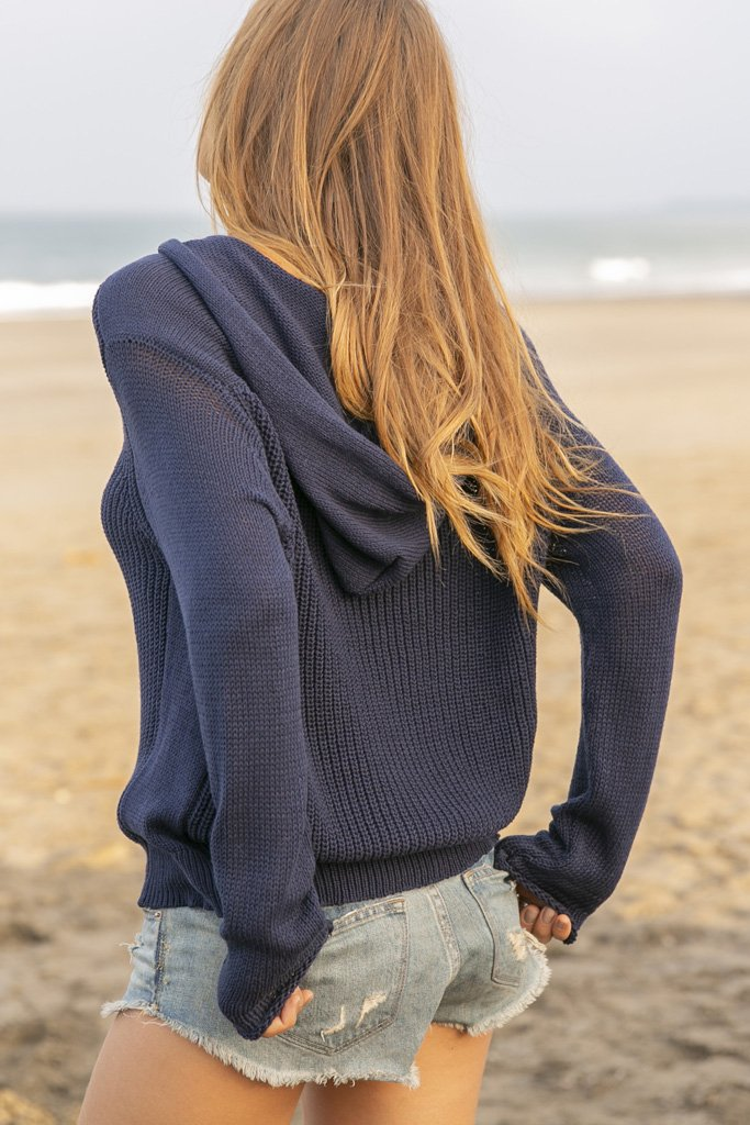 Women's Maverick Boyfriend Hoodie Cotton Sweater's | Wooden Ships Knits