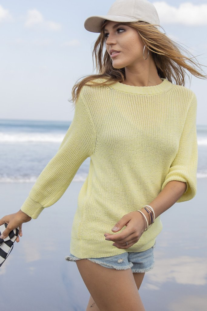 Women's Miller 3/4 Sleeve Mercer Sweater's | Wooden Ships Knits