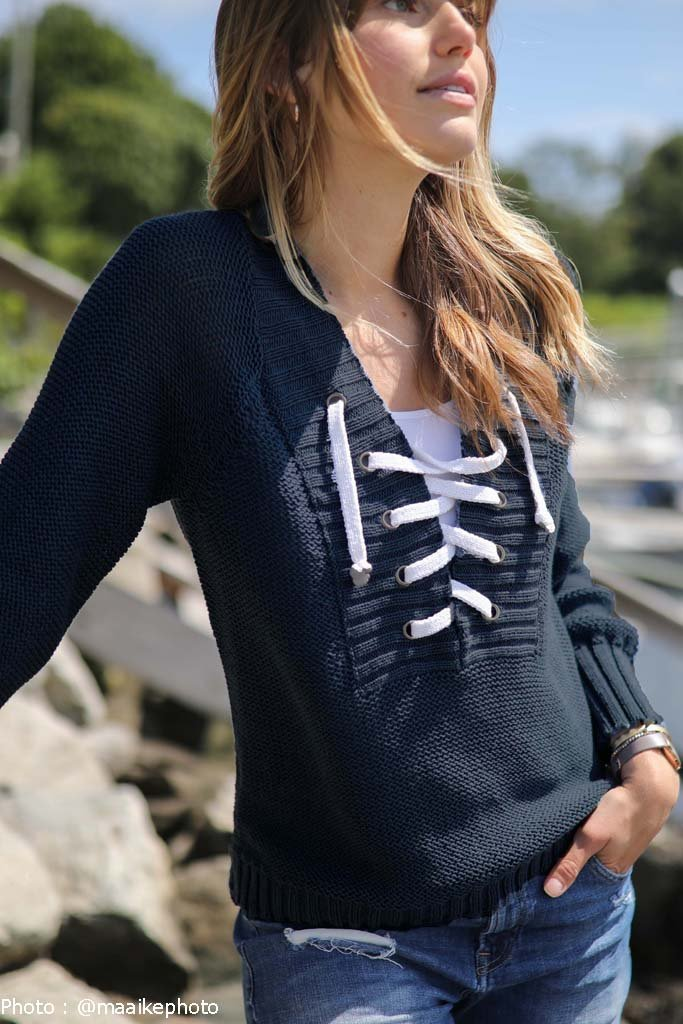Women's Saylor Top Cotton Sweater's | Wooden Ships Knits