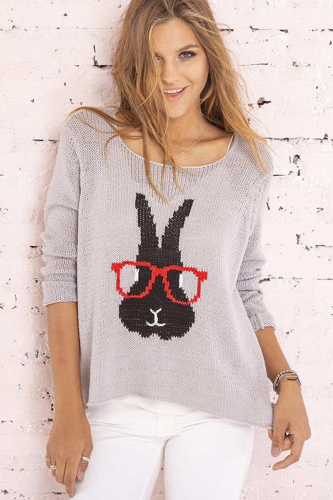 Women's Smart Hare Crewneck Cotton Sweater's | Wooden Ships Knits